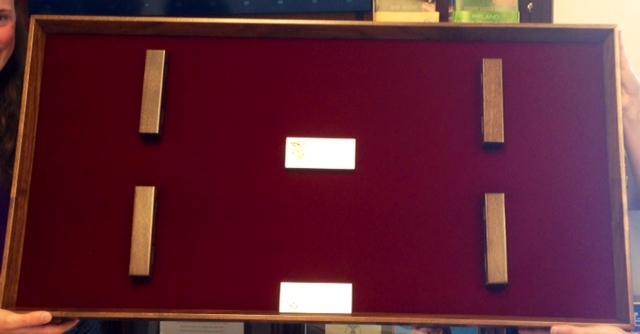 Example of Red Double Case with Cherry Wood